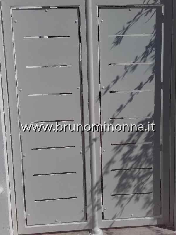 Cancello pedonale  in ferro semi lavorato a 2 ante CLL0212A (foto 1) realizzato da Bruno Minonna