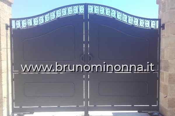Cancello  in ferro semi lavorato a 2 ante CLL0808A (foto 1) realizzato da Bruno Minonna