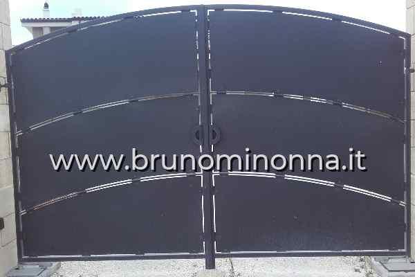Cancello  in ferro semi lavorato a 2 ante CLL8609A (foto 1) realizzato da Bruno Minonna