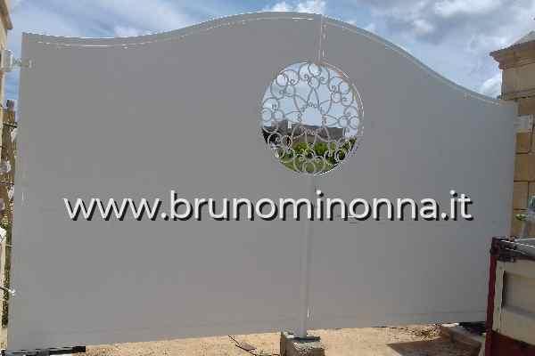 Cancello  in ferro semi lavorato a 2 ante CLL9509A (foto 1) realizzato da Bruno Minonna